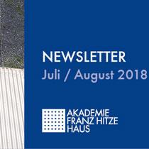Newsletter Juli / August 2018